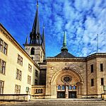 Luxembourg ville cathedrale photo